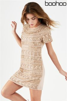 Boohoo Embellished Mini Dress