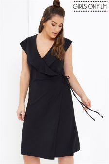 Girls On Film Curve Wrap Front Dress
