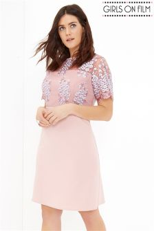 Girls On Film Curve Blush Mini Dress