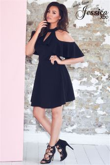 Jessica Wright Cold Shoulder Shift Dress
