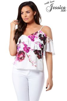 Jessica Wright Multi Floral Top