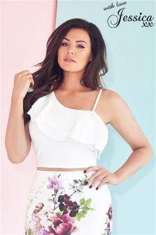 Jessica Wright One Shoulder Ruffle Top