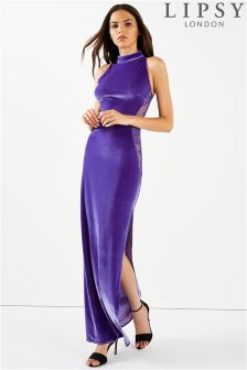 Lipsy Velvet Cutout Maxi Dress