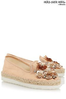 Head Over Heels Floral Embellished Esapdrilles