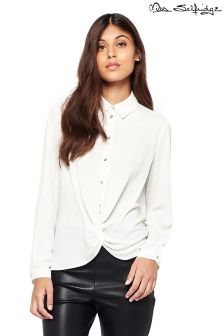 Miss Selfridge Knot Front Shirt