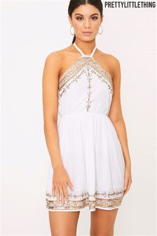 PrettyLittleThing Embellished Swing Dress