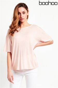 Boohoo Tie Back Oversized T-Shirt