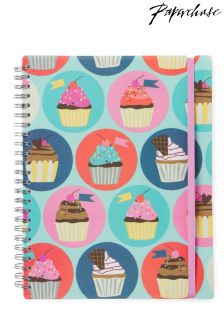 Paperchase Cuppy Cakes A5 Slim Ruled Notebook