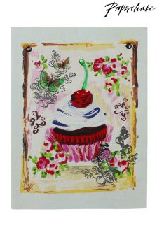 Paperchase Cupcake A6 Hand-stitched Notebook