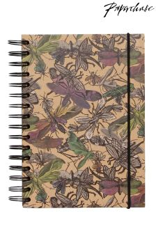 Paperchase Ombre Insects A6 Kraft Notebook