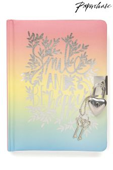 Paperchase Smile Lockable Notebook
