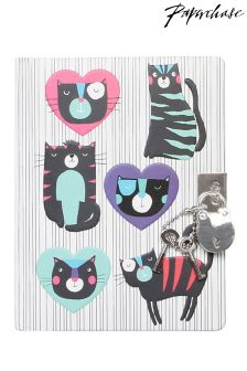 Paperchase Cool Cats Lockable Notebook