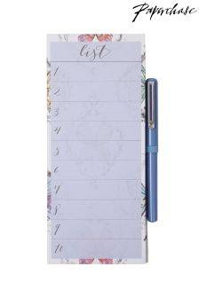 Paperchase Butterfly Magnetic List Pad With Pen