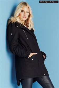 Noisy May Long Sleeve Padded Coat