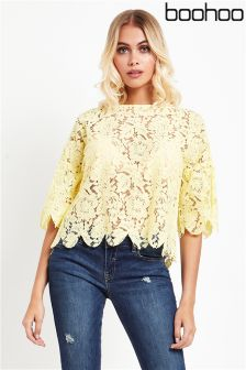 Boohoo All Over Lace Top