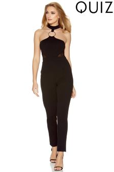 Quiz Scuba Crepe Diamond Neck Jumpsuit