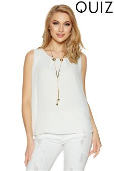 Quiz Bubble Top With Necklace