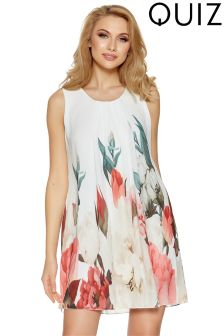 Quiz Floral Print Sleeveless Tunic Dress