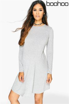 Boohoo Maternity Long Sleeve Swing Dress