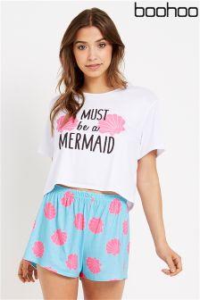 Boohoo Mermaid PJ Set