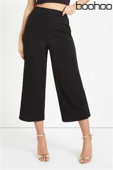 Boohoo Wide Leg Cropped Trousers