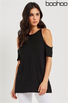 Boohoo Cold Shoulder T-Shirt