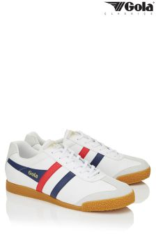 Gola White Harrier Leather Trainers