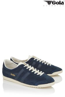 Gola Navy Bullet Suede Trainers