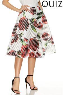Quiz Floral Print A line Skirt
