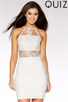 Quiz Lace Applique Detail Bodycon Dress