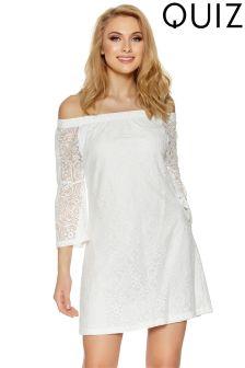 Quiz Lace Bardot Mini Dress
