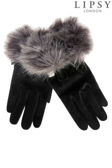 Lipsy Suede Faux Fur Gloves