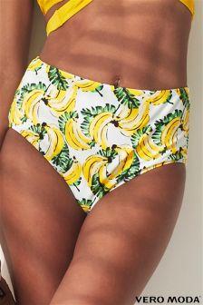 Vero Moda Banana Print Hipster Bikini Briefs