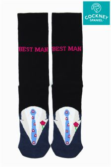 Cockney Spaniel Best Man Socks