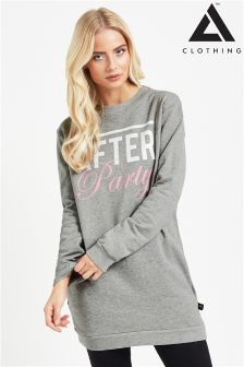 Adolescent Slogan Sweater Dress