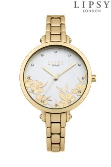 Lipsy Gold Bracelet Floral Watch