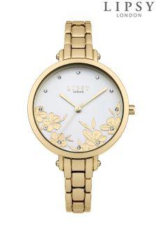 Lipsy Gold Bracelet Floral Watch