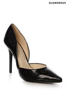 Glamorous Patent Snake Court Heels