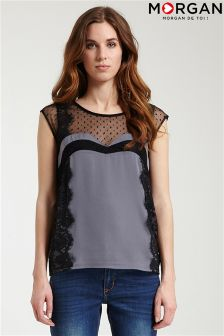 Morgan Lace Detail Top