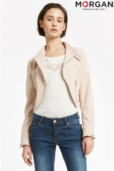 Morgan Cropped Biker Jacket