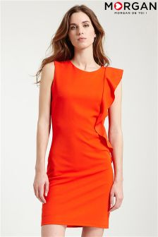 Morgan Ruffle Shift Dress