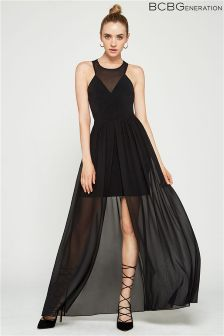 BCBGeneration Contrast Maxi Dress