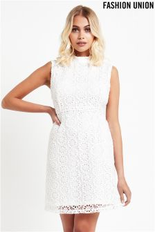 Fashion Union A line Lace Dress
