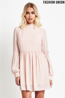 Fashion Union Balloon Sleeve Shift Dress
