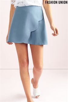 Fashion Union Scallop Mini Skirt