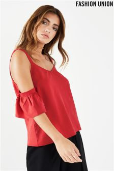 Fashion Union Cold Shoulder Cami Top