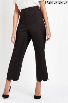 Fashion Union Scallop Hem Trouser