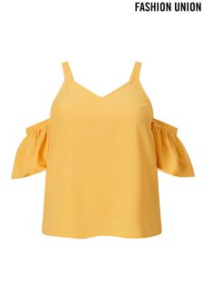 Fashion Union Curve Cold Shoulder Cami Top
