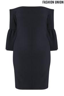 Fashion Union Curve Off Shoulder Bodycon Dress