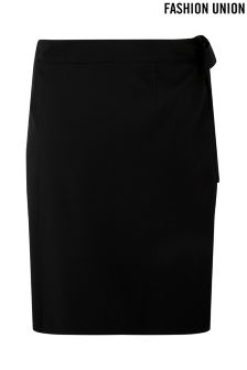 Fashion Union Curve Midi Wrap Skirt